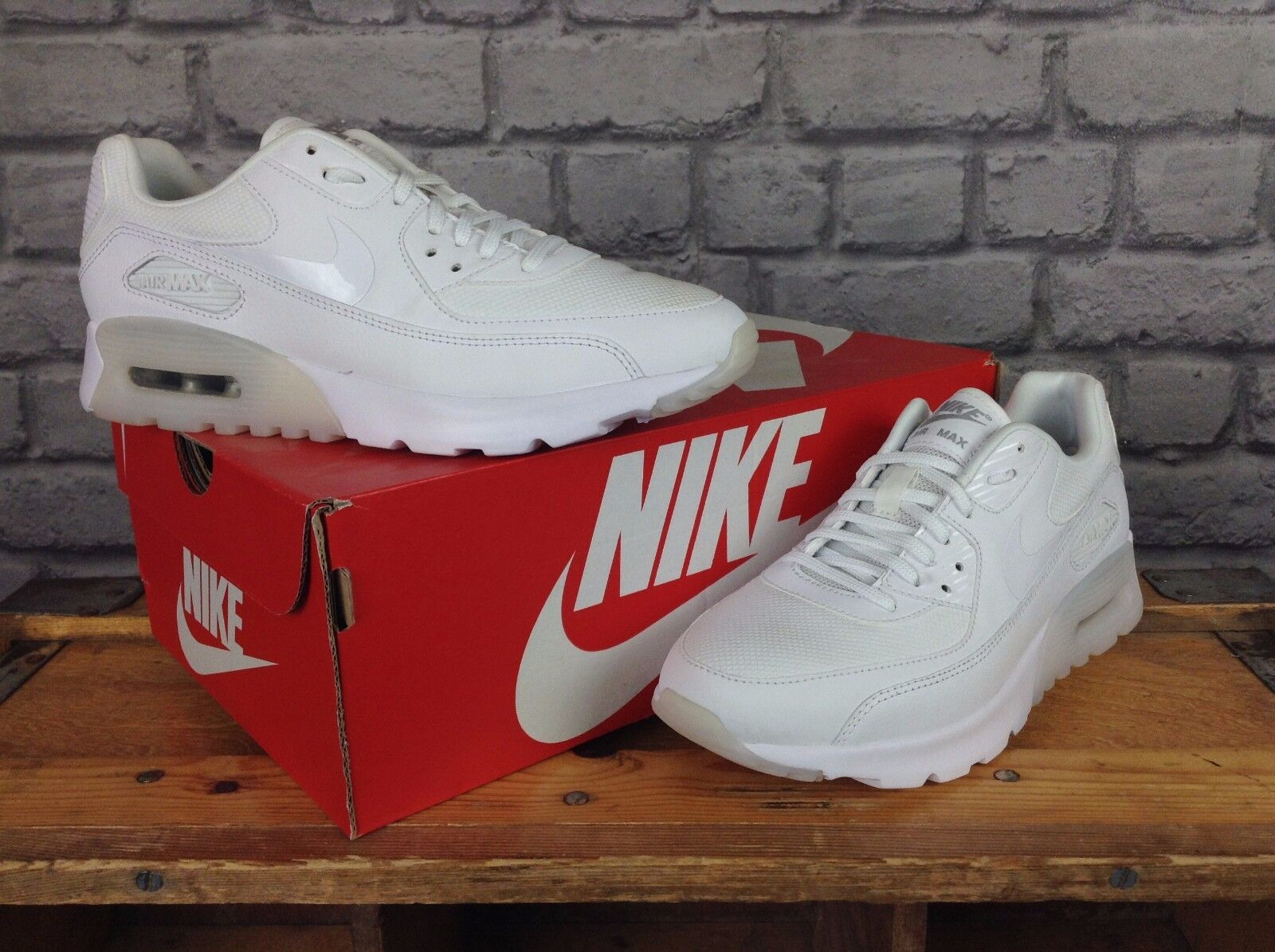 NIKE LADIES UK 3,4,5,6,7 AIR MAX 90 ULTRA ESSENTIAL WEISS TRAINERS