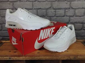 NIKE-LADIES-UK-3-4-5-6-7-AIR-MAX-90-ULTRA-ESSENTIAL-WHITE-TRAINERS