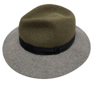 LANVIN-RABBIT-FELT-OLIVE-GRAY-HAT-M-1050