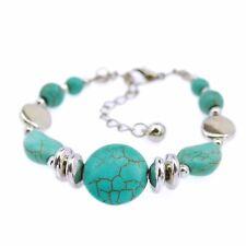 Bracciale donna pietre turchesi primavera estate - Turquoise Women Bracelet #BD6