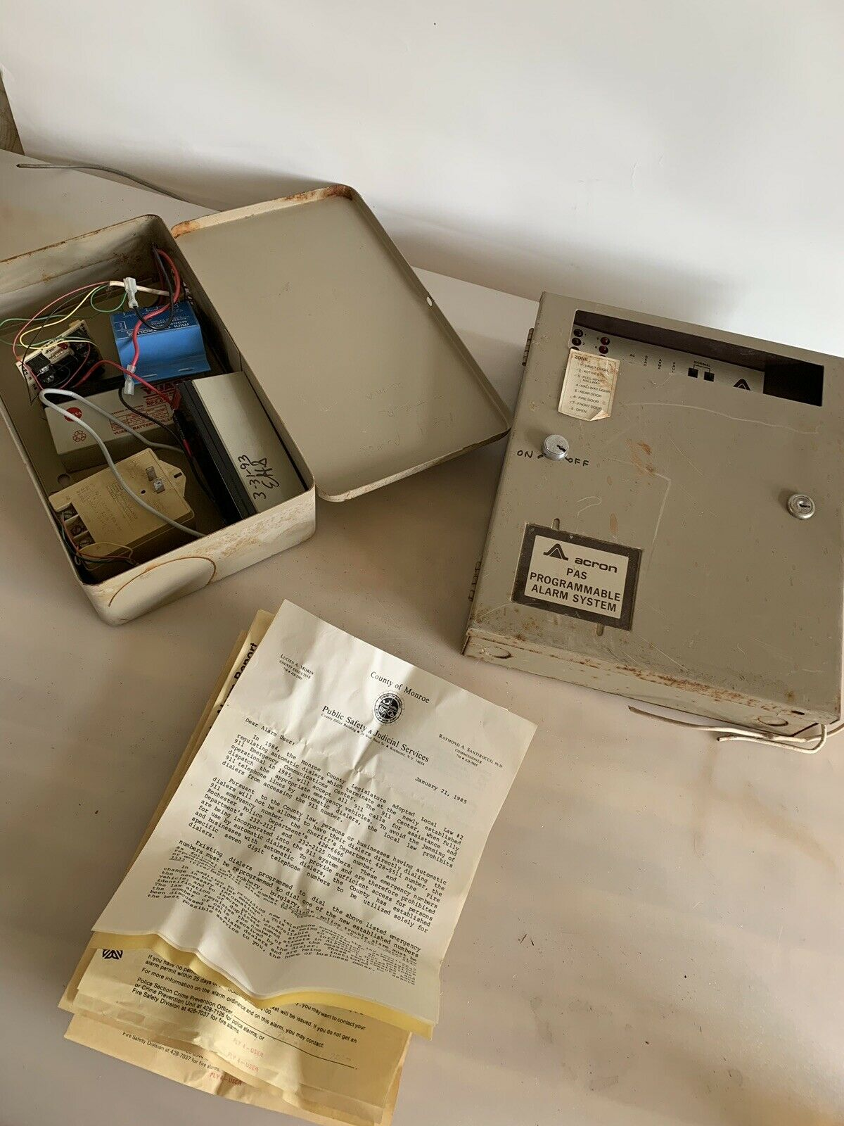 Vintage Acron PAS Programable Alarm System And Components 1983