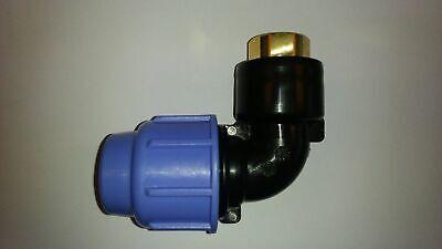 Tube pe en plastique pp de serrage connecteur klemmfitting raccord té AG DVGW