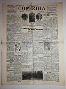 N1106-La-Une-Du-Journal-Comoedia-20-janvier-1929-propos-incendiaires