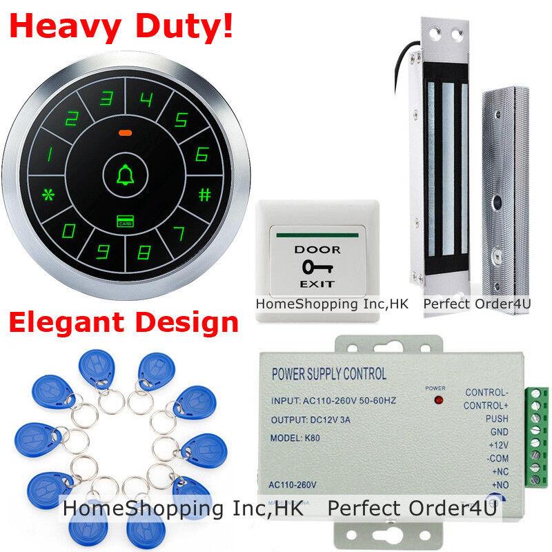 Estados Unidos Tarjeta RFID impermeable + contraseña puerta +DC12V Sistema de Control de Acceso Cerradura Magnética