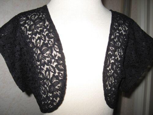 New Gothic Black lace floral crop Shrug Bolero Lolita Party Boho  plus sizes