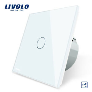 Conmutador-Pared-EU-Panel-Cristal-Tactil-Switch-Wall-Touch-LIVOLO-1-Gang-2-Way