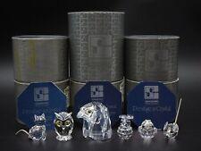 6 SWAROVSKI CRYSTAL ASSORTED FIGURINES ~ MINT IN BOXES ~ SC BLOCK TRADEMARK