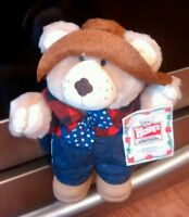 1986 Vintage Farrell Teddy Bear Wendy's Hamburgers Furskins Plush