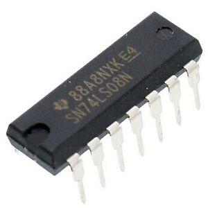 10PCS SN74LS08N 74LS08N 74LS08 DIP-14 IC TI