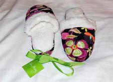 NEW Vera Bradley M (7-8) Fleece SLIPPERS in PIROUETTE PINK 14247-167M