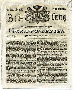CompéTent État Et érudits Journal No. 65 1819 24 Avril-afficher Le Titre D'origine Saveur Aromatique