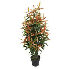 Ahorn Baum Kunstbaum Künstliche Pflanze Echtholz Rote Blätter 150cm Decovego