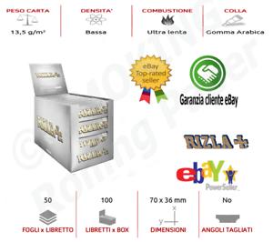 MIGLIOR PREZZO 5000 CARTINE RIZLA ARGENTO SILVER grigie CORTA 100 LIBRETTI ✅