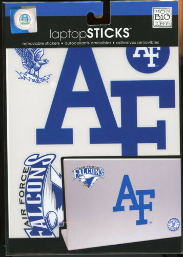 """4 AIR FORCE FALCONS AF Laptop Decals 6/"""" /& smaller peel n stick SB"""