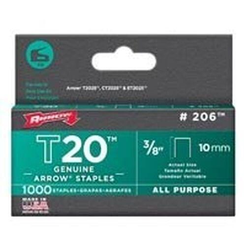 """NEW ARROW 206 LOT OF PACKS 3//8/"""" T20 STAPLE GUN 5000 STAPLES USA 6966022 5"""