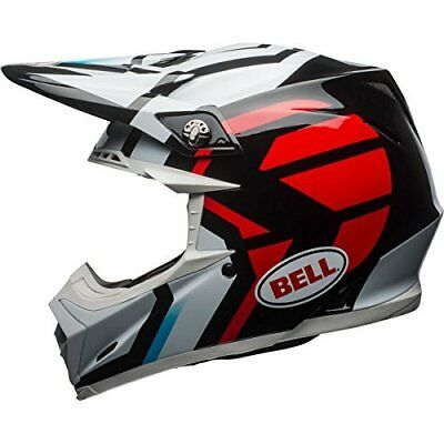 Bell Moto 9 Mips District Black//White//Red Small