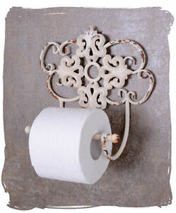 Toilet paper holder white toilet roll holders shabby chic for Toilette shabby chic