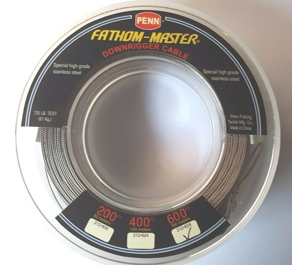 Penn Fathom-Master Downrigger Cable  212-626 Stainless Steel 600 FEET ROLL NEW  store