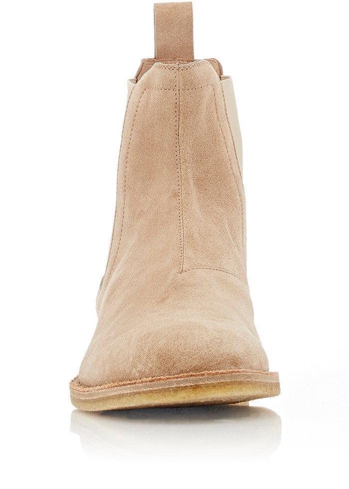 MEN GENUINE HANDMADE GENUINE MEN SUEDE LEATHER Schuhe BEIGE CHELSEA CASUAL Stiefel 6b143c