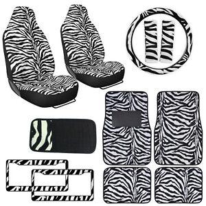 Image Is Loading Safari White Zebra Print Car Truck Seat Covers