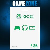 Xbox Live €25 Karte - 25 Euro Microsoft Guthaben - Xbox One / Xbox 360 Code Card