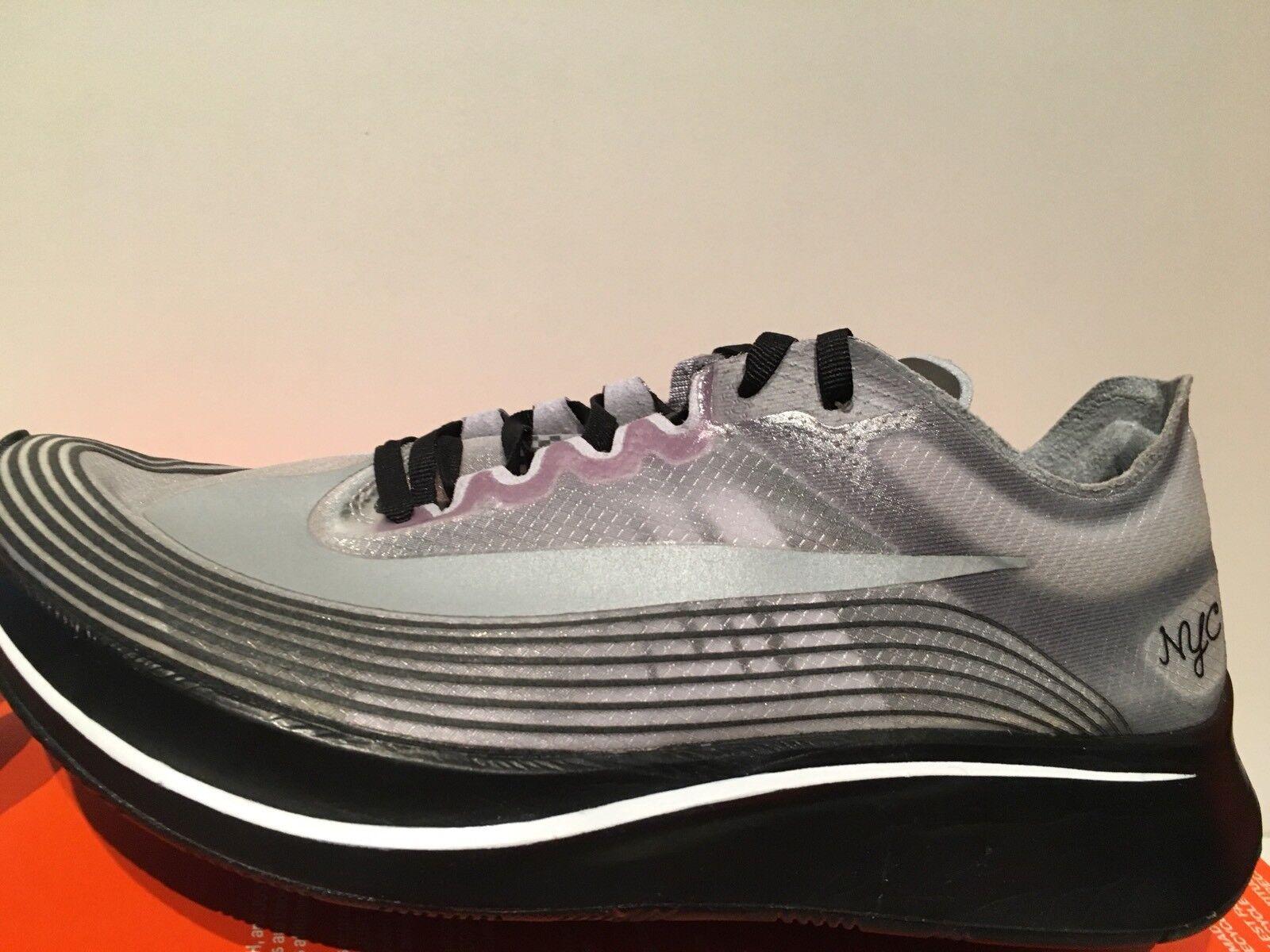 c8ebeb5d31bd ... Nike NikeLab Zoom Fly NYC New New New York City Marathon Black White  Size 8.5 AH5088 ...