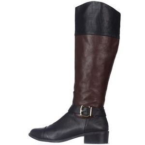 63adc1df592 New Women s Vince Camuto Leisha Black Chestnut Venice Leather Riding ...