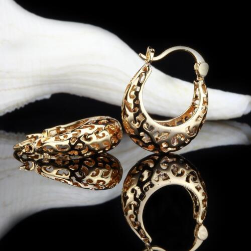 Creolen oval 22 mm Ø 750er Gold 18k dorado dorado o2781