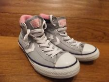 Converse Star Player Grey Canvas Hi Top Trainers Size UK 5 EUR 38