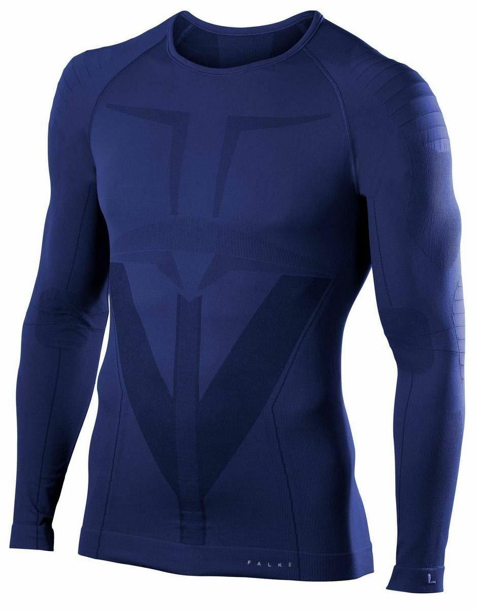Falke Mens Tight Fit Long Sleeve Shirt - Dark Night Navy