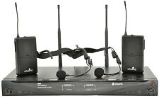 Chord RU2-N TWO way Beltpack Headset Microphone System DJ Karaoke Bingo 171.867