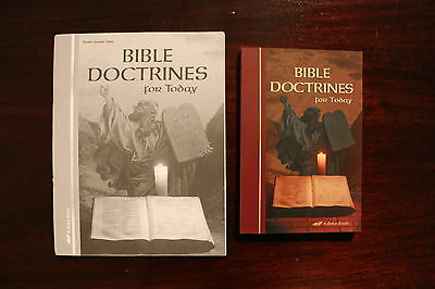 ABeka Bible Doctrines For Today Set of 2 Textbook and quizzes Homeschool student