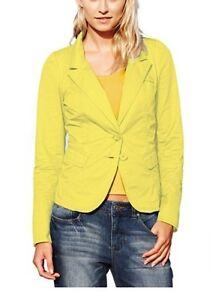 Details zu Best Connections Blazer NEU Gr.38,40,42 Damen Kurzjacke Gelb Business Baumwolle