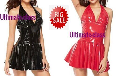 Dominatrix Synthetic wet leather Femdom Dress size S M L Dominant women costume