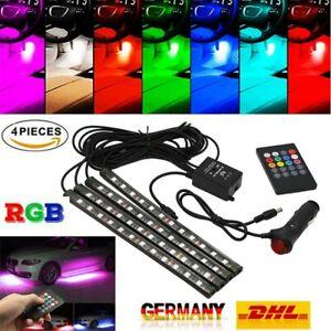 4X-RGB-12-LED-Innenraumbeleuchtung-Fussraumbeleuchtung-Auto-Innenbeleuchtung-APP