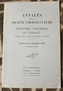 Horticulture & Histoire Naturelle De L'hérault ✤ Annales / N°4 De 1954 Wcsmdpgi-07175810-664684099
