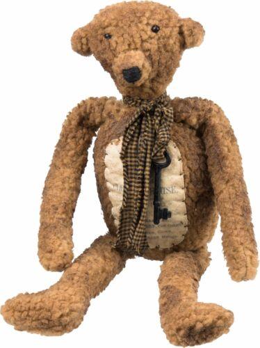 NEW!~Primitive Tan Stuffed Teddy Bear~Vintage Weathered Like Bear Doll
