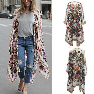Fashion-Women-Boho-Chiffon-Kimono-Shirt-Cardigan-Long-Beach-Cover-Up-Tops-Blouse
