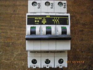 AEG Elfa B16 B20 B25 B32 3 polig Sicherungsautomat Schaltschrank Verteilung - Deutschland - AEG Elfa B16 B20 B25 B32 3 polig Sicherungsautomat Schaltschrank Verteilung - Deutschland