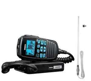 UNIDEN-UH8060S-NB-UHF-RADIO-amp-CH5T-WHITE-UHF-RUGGED-ANTENNA-4WD-CARS-VEHICLE