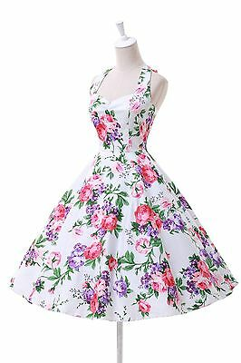 S~3XL>> Robe de Pin Up Retro Vintage années 50 60 Swing Robes vestid