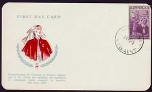 1955-NURSING-WESLEY-FIRST-DAY-CARD-UNADDRESSED-RED-CACHET-CMV-45-PS3621
