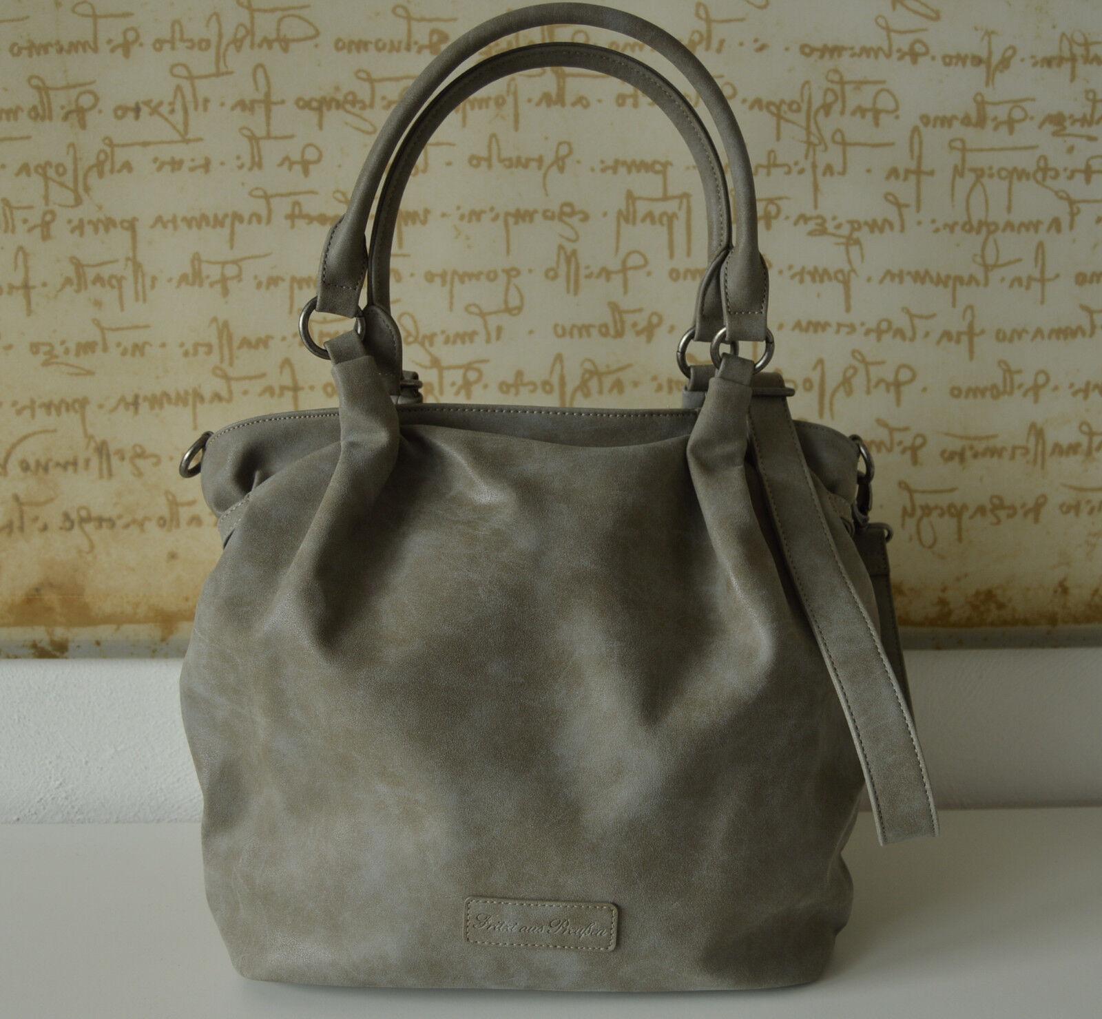 ac04498dc14b5 FRITZI AUS AUS AUS PREUßEN SALE Schultertasche Shopper KIANA Vintage Grau  Metal