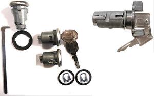 New-GM-Oldsmobile-OEM-Chrome-Ignition-Doors-Trunk-Lock-Key-Cylinder-Set-W-Keys