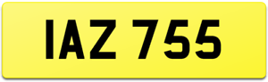 IAZ 755 DATELESS 6 DIGIT OLD CAR REG NUMBER PLATE FOR ANY AGE VEHICLE / IAN A IA