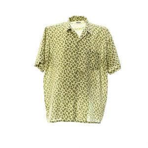 Kurzarmhemd-Herren-Groesse-XL-Paisleymuster-Print-Freizeit-Shirt