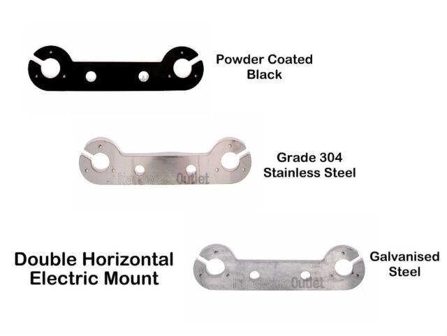 BLACK Tow Bar Trailer HORIZONTAL SINGLE Electric Mount Plate Bracket Fitting 7