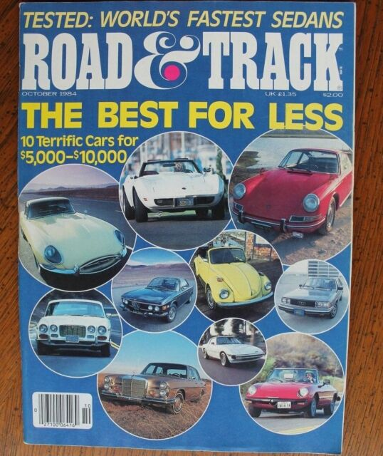Road & Track October 1984 Lancia Rally Camaro IROC-Z Porsche Vanagon, Al Holbert