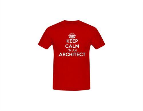Keep Calm Architect MEN/'S BOYS Slogan Funny Humour Fathers Day T-shirts S-XXL