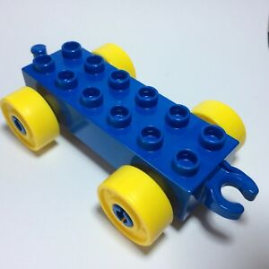 Lego Duplo *Spares Spare Parts* Wheels Green With Yellow For Carriage Car,Train